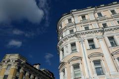 前有益的房子在Prechistenka街的Lihutin, 39在莫斯科 免版税库存照片