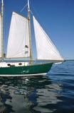 前桅下帆三角帆帆柱木风船的大篷车 免版税图库摄影