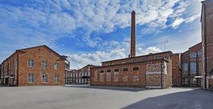 前棉花工厂在波里,芬兰 库存照片