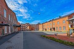 前棉花工厂在波里,芬兰 图库摄影