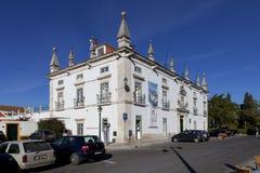 前欧亨尼奥森林区宫殿,作为圣塔伦市政厅当前使用的17世纪庄园房子  库存照片