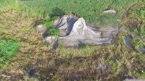 前沙子开采的区域的美好的天线/寄生虫视图在印度尼西亚 影视素材