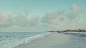 前浆手海滩Sanibel海岛佛罗里达 免版税库存图片