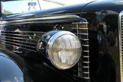 前灯经典美国汽车 免版税库存照片