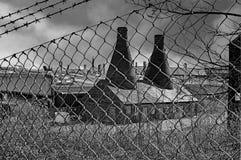前猎鹰瓦器工作,特伦特河畔斯托克 免版税库存图片
