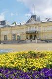 前王宫的大厦 今天全国美术画廊在索非亚 库存图片