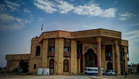 前现在萨达姆・侯赛因宫殿博物馆,巴士拉,伊拉克 库存照片