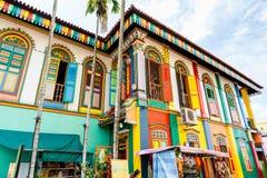 前生存中国别墅在一点印度,新加坡 库存图片