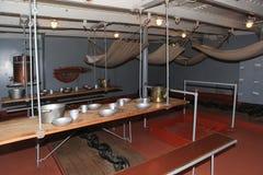 前甲板,巡洋舰极光 组织乘船在期间在第一次世界大战前 圣彼德堡 库存照片