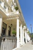 前英王乔治一世至三世时期房子伦敦灰泥 免版税库存照片