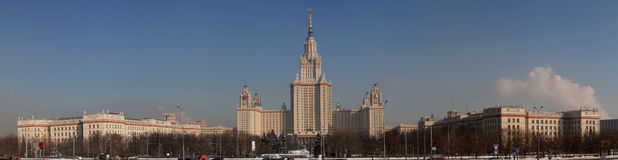 前莫斯科州立大学冬天 免版税库存图片
