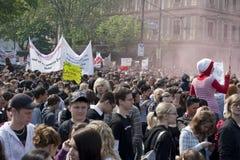 前议会学生碰撞维也纳 图库摄影