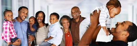 前辈与家庭的已婚夫妇 免版税库存照片