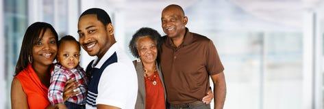 前辈与家庭的已婚夫妇 图库摄影