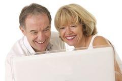 前辈生活方式夫妇  免版税库存图片