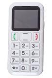 前辈的手机有大按钮的 免版税库存图片