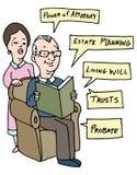 前辈财产分配研究 库存例证