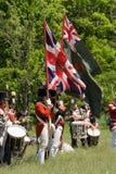 前进关于战争的1812个范围制定 库存照片