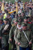 前进的战士 免版税库存图片