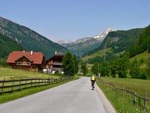 奥地利阿尔卑斯Rorhenwand 库存照片
