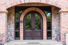 前门家曲拱石头木头 图库摄影