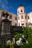 前阴险的人修道院和温床,克列梅涅茨,乌克兰 免版税库存图片