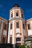 前阴险的人修道院和温床,克列梅涅茨,乌克兰 免版税库存照片