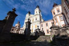前阴险的人修道院和温床,克列梅涅茨,乌克兰 图库摄影