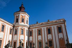 前阴险的人修道院和温床,克列梅涅茨,乌克兰 库存照片