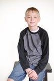 前青少年的男孩 免版税图库摄影