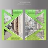 前面和登在报纸最后部分小册子模板 布局模板 事务的介绍抽象背景 库存照片