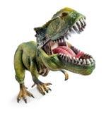 前面宽观点的暴龙,恐龙戏弄 库存照片