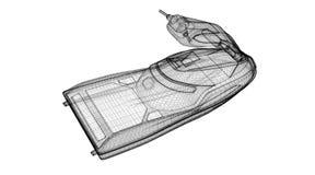 前面查出的jetski视图 免版税库存照片