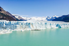 前面看法,佩里托莫雷诺冰川,阿根廷 库存照片