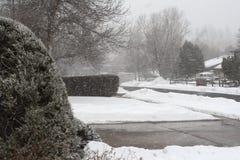 前面范围雪 库存照片