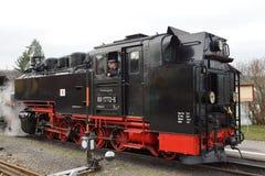 前面蒸汽火车 库存照片