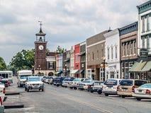 前面街道乔治城 免版税库存图片