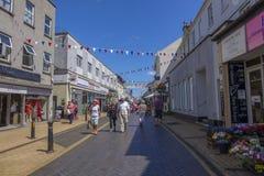 前面街道Brixham Torbay德文郡Endland英国 库存图片