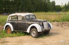 前面车灯的细节一辆老汽车 免版税库存图片