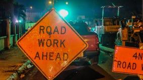 前面道路工程 免版税图库摄影