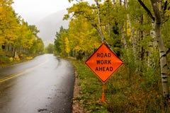 前面道路工程 库存照片