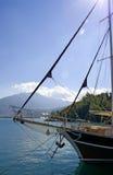 前风帆船 免版税图库摄影