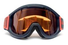 前风镜滑雪视图 免版税库存图片