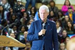 前总统比尔・克林顿在宾夕法尼亚 库存图片