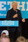 前总统比尔・克林顿竞选在宾夕法尼亚 免版税库存照片