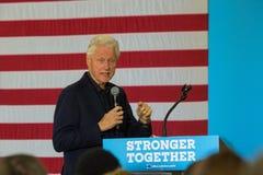 前总统比尔・克林顿讲话在宾夕法尼亚 库存照片