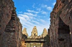 前angkor柬埔寨rup寺庙 库存照片