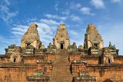 前angkor柬埔寨rup寺庙 免版税图库摄影
