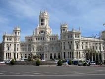 前Cibeles宫殿通信宫殿在广场de Cibeles的 库存图片