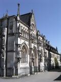 前hautecombe修道院视图 免版税库存照片